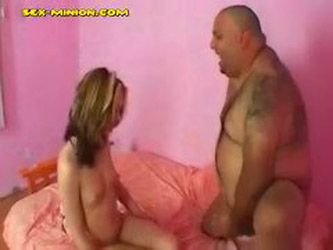Blonde Get Fuck And Cum From Fat Guy