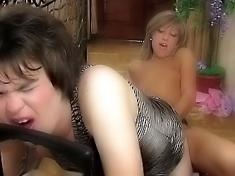 Nora&Ernest strapon pussyclothed sex action
