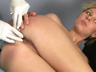 Kinky special examination for blonde