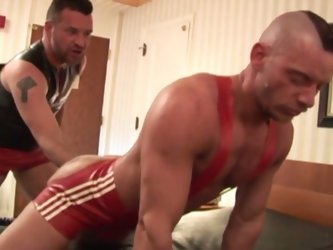 Muscled daddies nasty anal fisting session