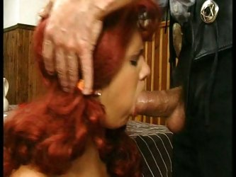 Redhead bitch fucked deep in tight asshole by nasty cowboy