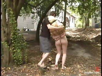 Horny Cowgirl gets dominated and toyed outdoors