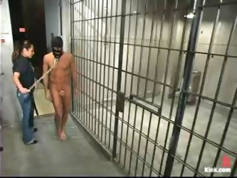 Juicy police officer holds a BDSM interrogations with a criminal