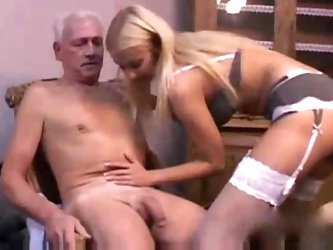 Hot Teen nurse seducing an Old patient
