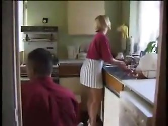 STP3 Horny Housewife Enjoys A Fuck In The Kitchen !