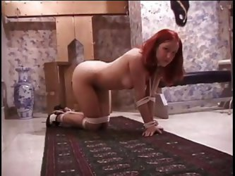 Smoking Hot Redhead Getting Spanked By Her Master