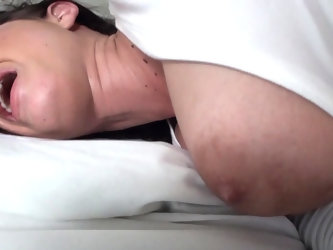 Gorgeous madam having dark hair is a real sex expert. She is getting her asshole drilled with her boyfriend's fingers and strong dick. She is scr