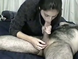 My husband is a hairy brutal man and I feel like being obedient in bed for him. He tells me to blow his cock and lick his balls and I eagerly do what