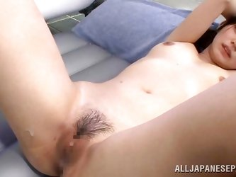 Pretty, slim and with a delicious ass Asian cutie Konoha obeys my will and does everything I want her to do. She stays bent over as I fuck that delici