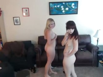 Two white curvaceous girls experience with lesbian sex