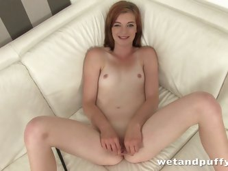 Sexy Helga fondles tits and dildo bangs her ass and cunt