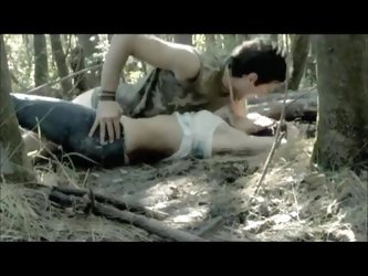 Sex scene in the woods from a movie